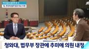 박지원 대안신당 의원이 결정적 한 수를 풀어보는 시간입니다. 어서오십시오. 조금 전 국회의원회관에서 추미애 의원이 법무부 장관 후보자 지명된 것에 대한 소감을 밝혔습니다.